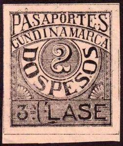 Cundinamarca_1899_passport_stamp_3rd_class