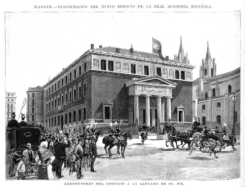 2015.9.9 Madrid,_inauguración_del_nuevo_edificio_de_la_Real_Academia_Española._Alrededores_del_edificio_a_la_llegada_de_SS._MM.